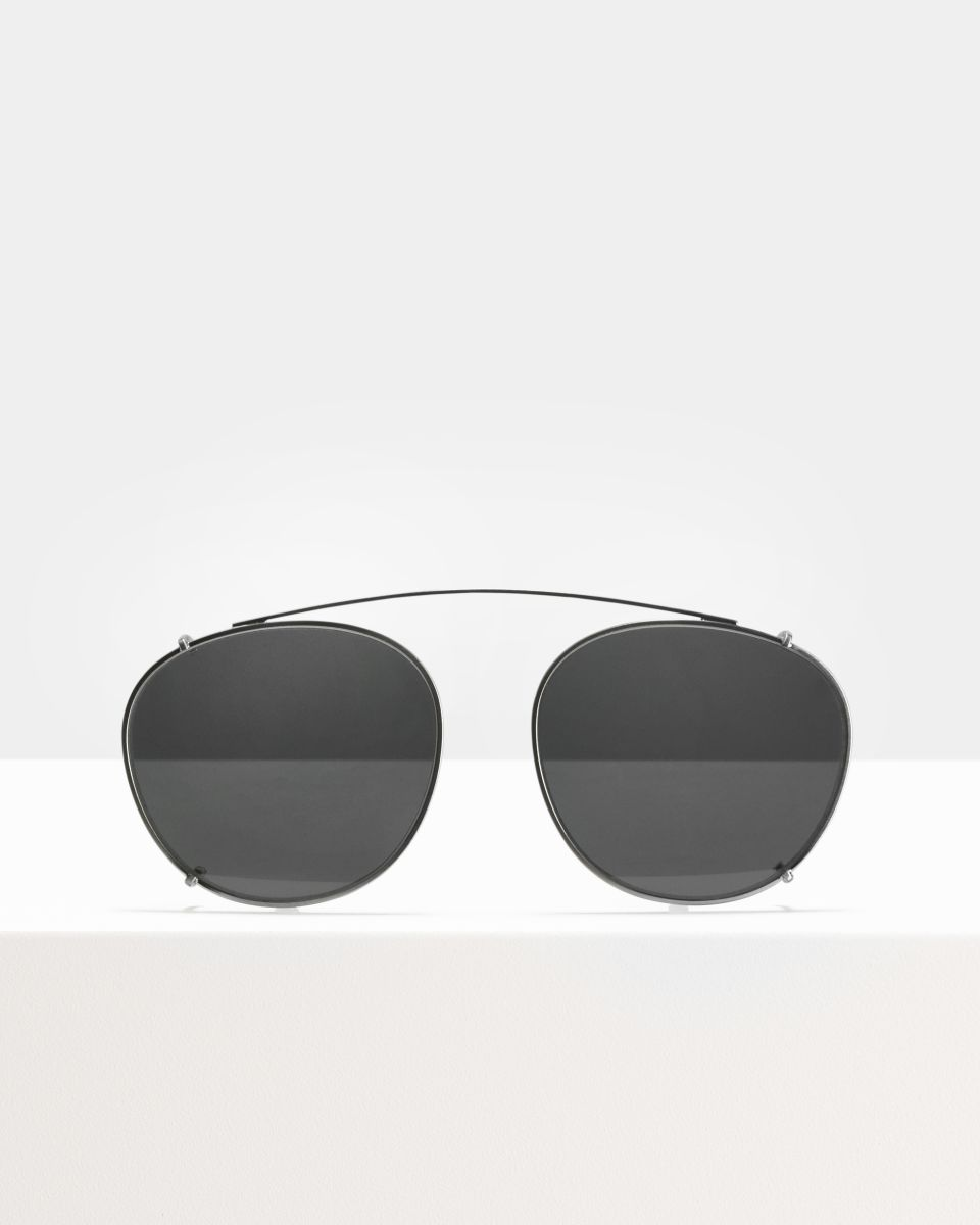 Neil Large clip-on   glasses in Satin Silver by Ace & Tate