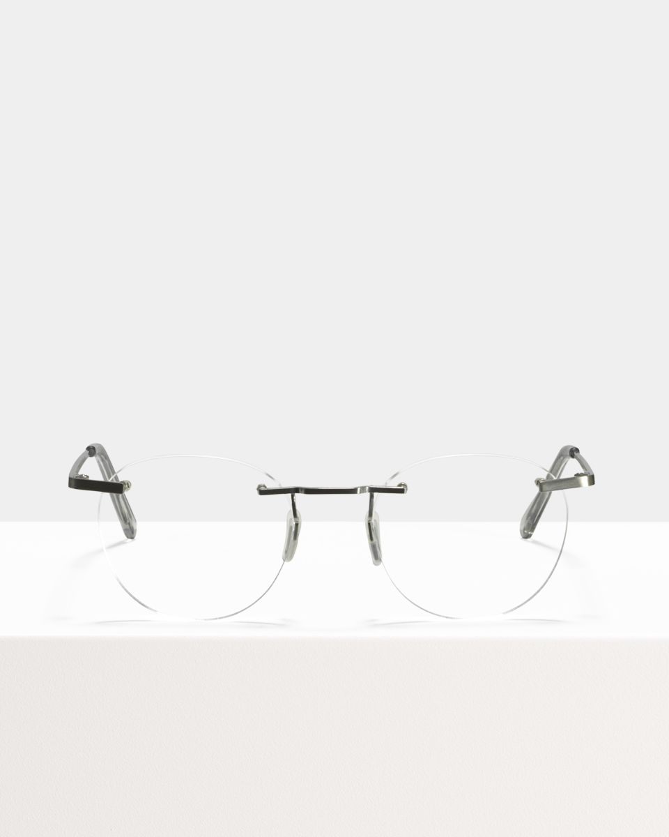 Vince Titanium round titanium glasses in Satin Silver by Ace & Tate