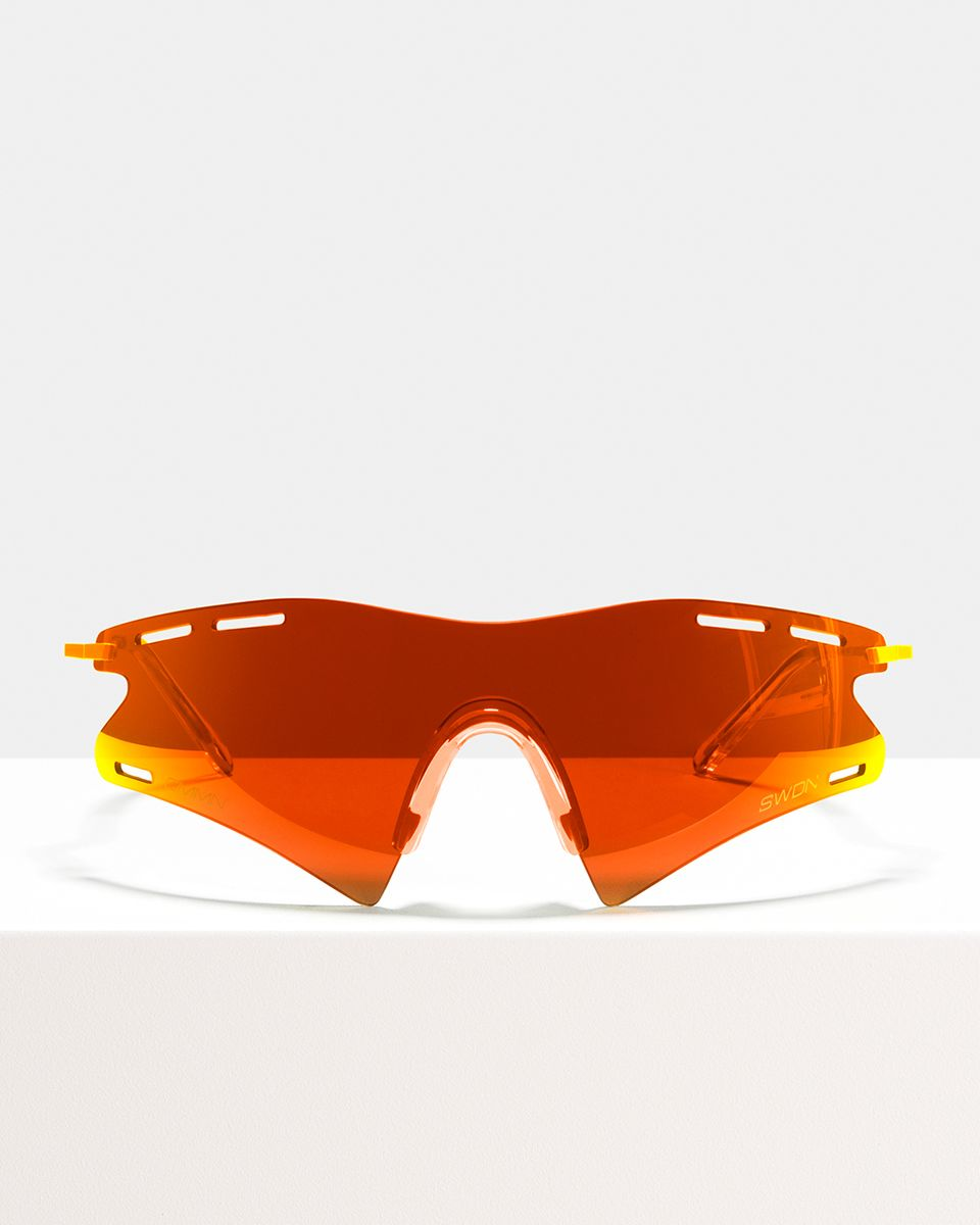 CMMN LeMond other Verbund glasses in Flame Red. by Ace & Tate