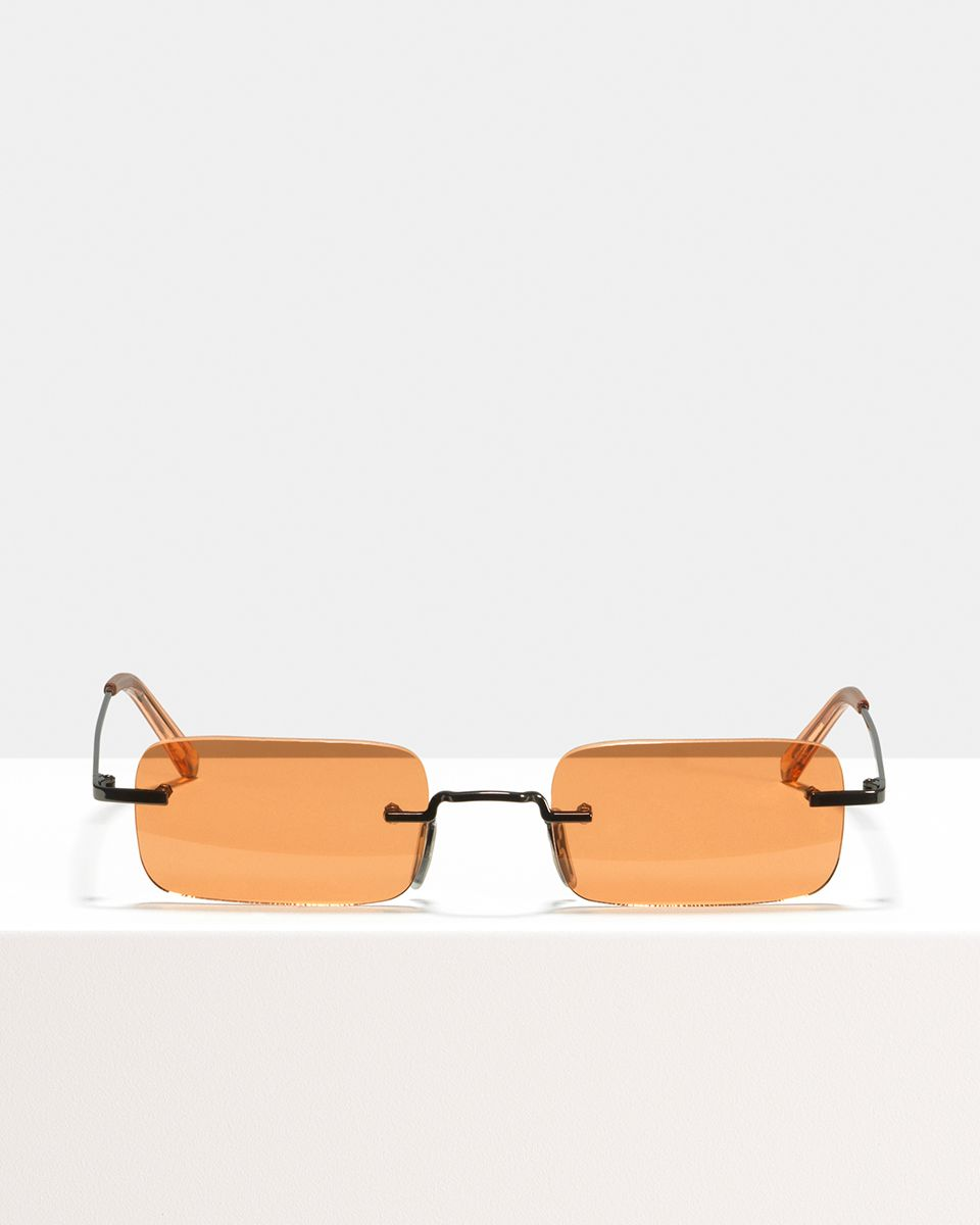 Justin Titanium rectangle titanium glasses in Sahara by Ace & Tate