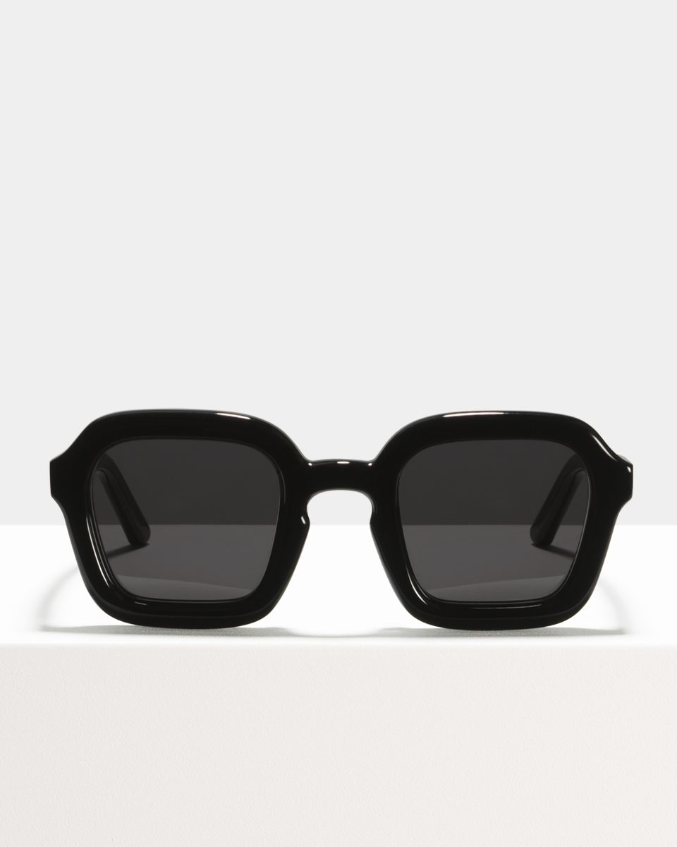 Andy square bio acetate glasses in Bio Black by Ace & Tate
