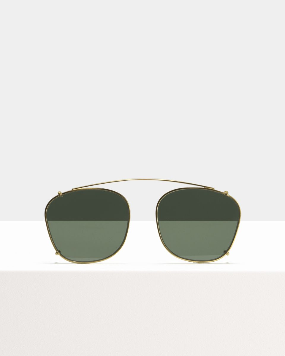 Jay clip-on   glasses in Satin Gold by Ace & Tate
