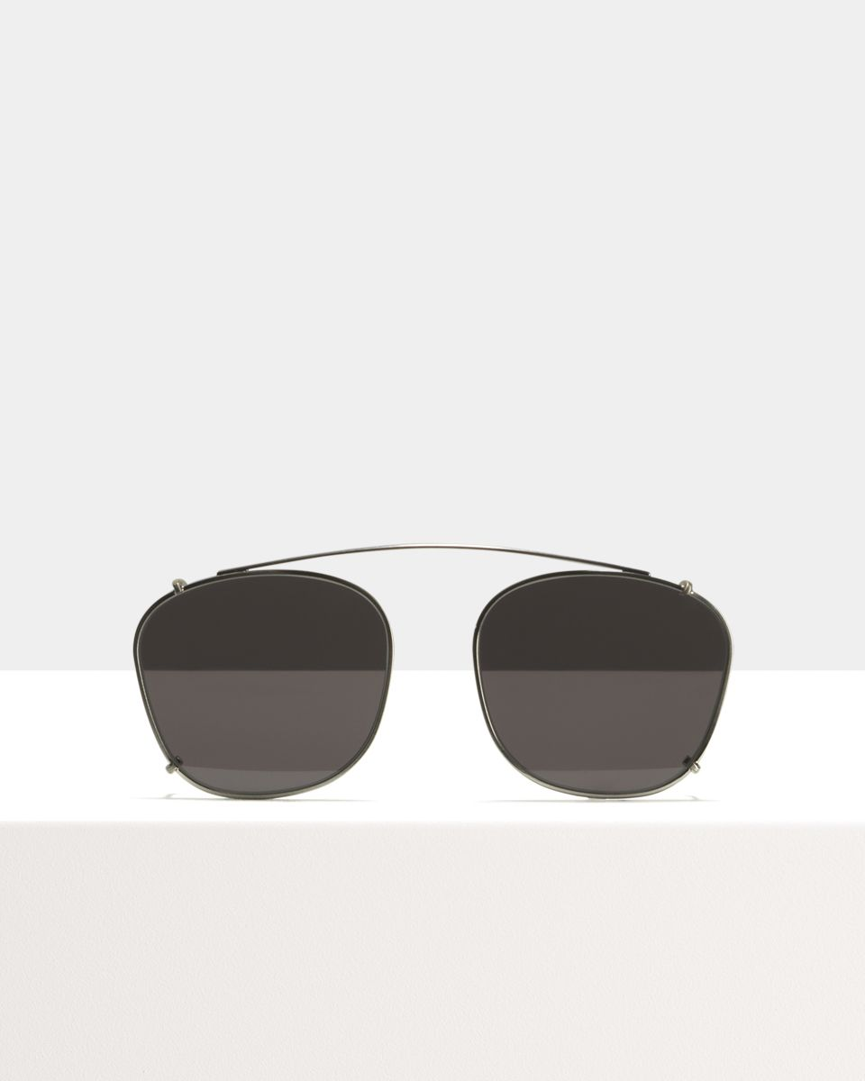 Jay clip-on   glasses in Satin Silver by Ace & Tate
