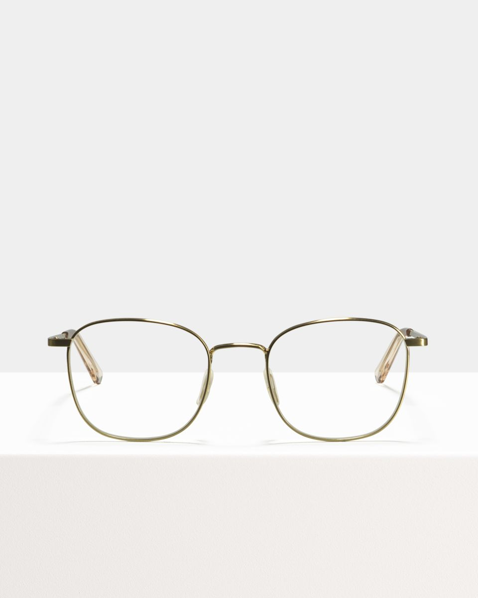 Jay Large metal glasses in Satin Gold by Ace & Tate