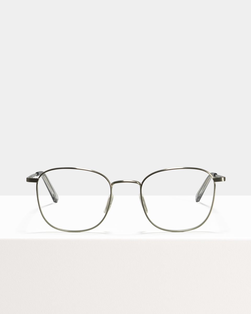 Jay Large metal glasses in Satin Silver by Ace & Tate