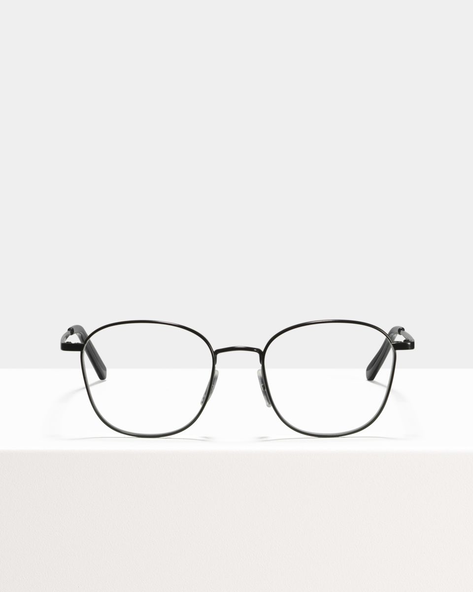 Jay metal glasses in Matte Black by Ace & Tate