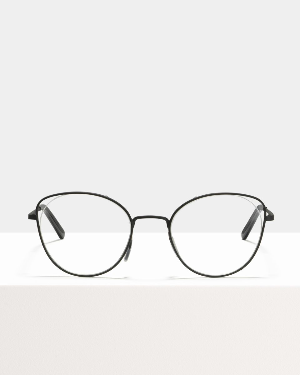 Zoe metaal glasses in Matte Black by Ace & Tate