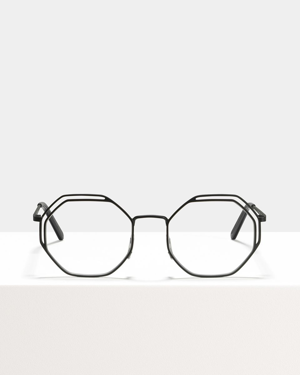 Lennon metaal glasses in Matte Black by Ace & Tate