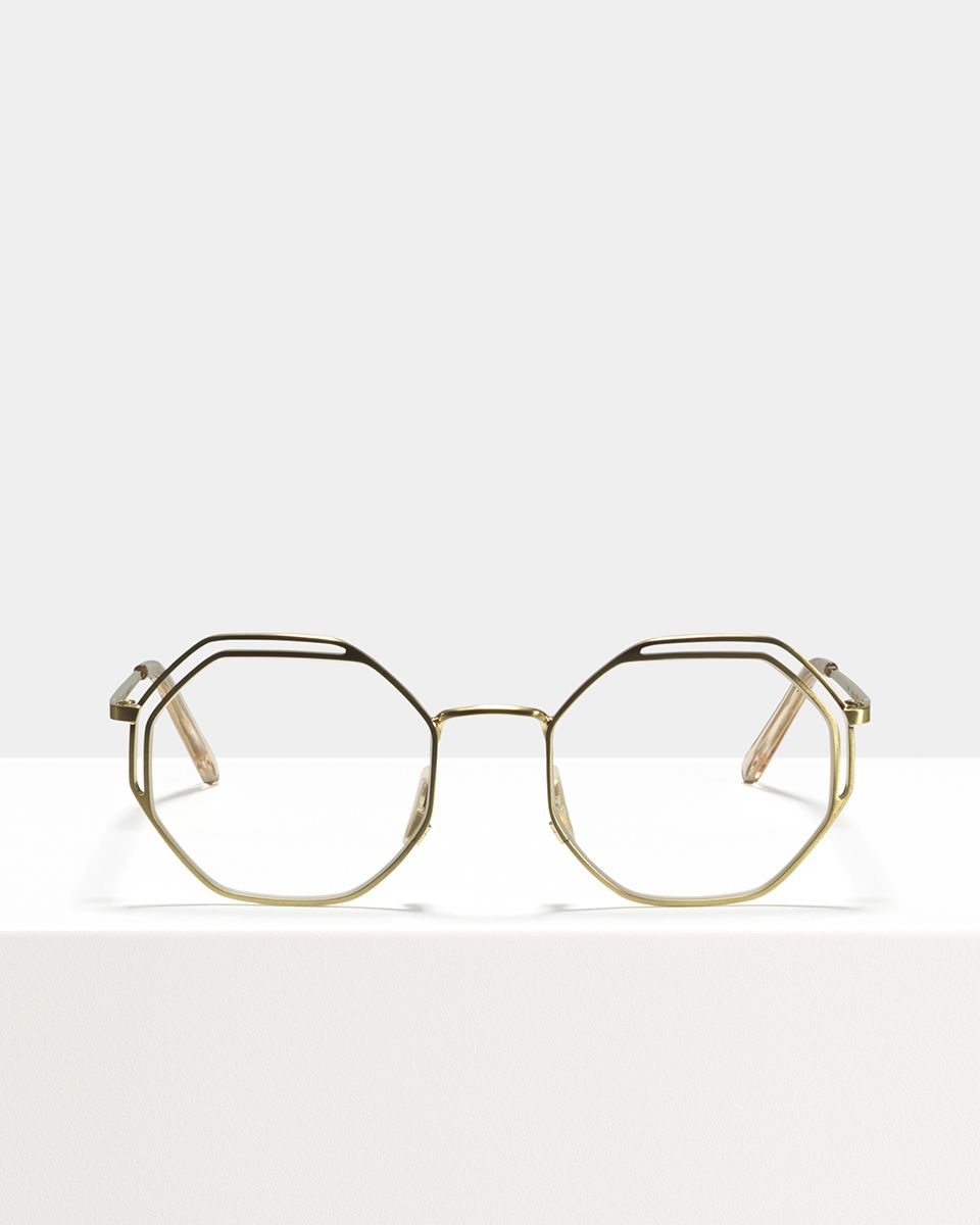 Lennon metal glasses in Satin Gold by Ace & Tate