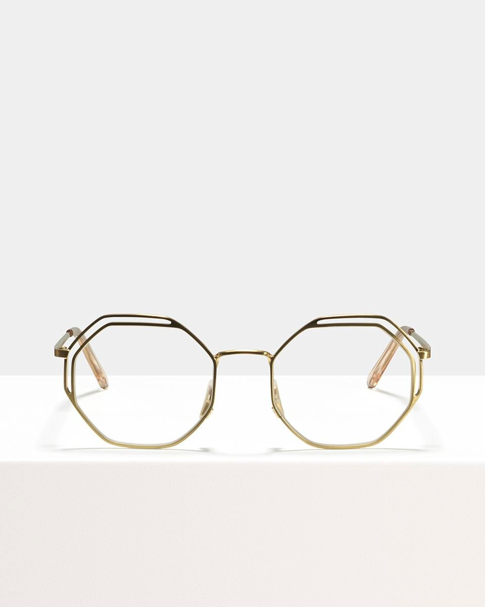 Lennon métal glasses in Satin Gold by Ace & Tate