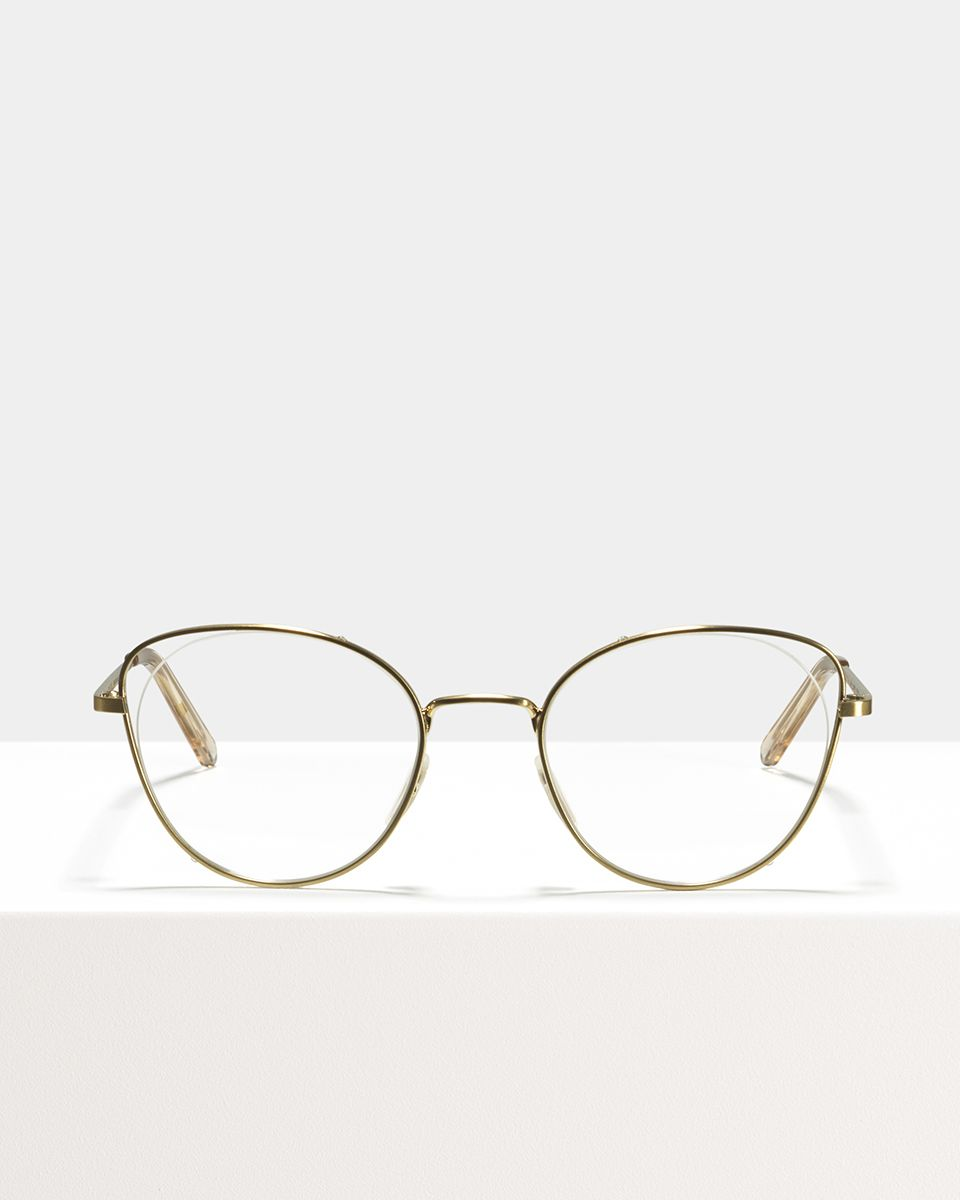 Zoe metal glasses in Satin Gold by Ace & Tate