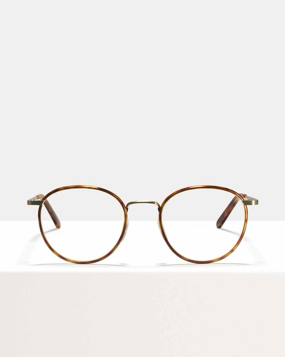 Neil Large metal glasses in Desert Spice by Ace & Tate