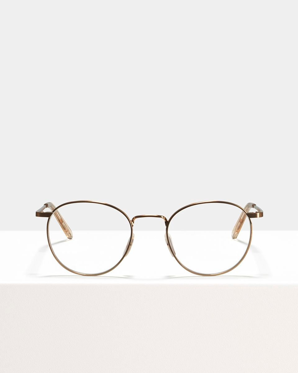 Neil metal glasses in Rose Gold by Ace & Tate