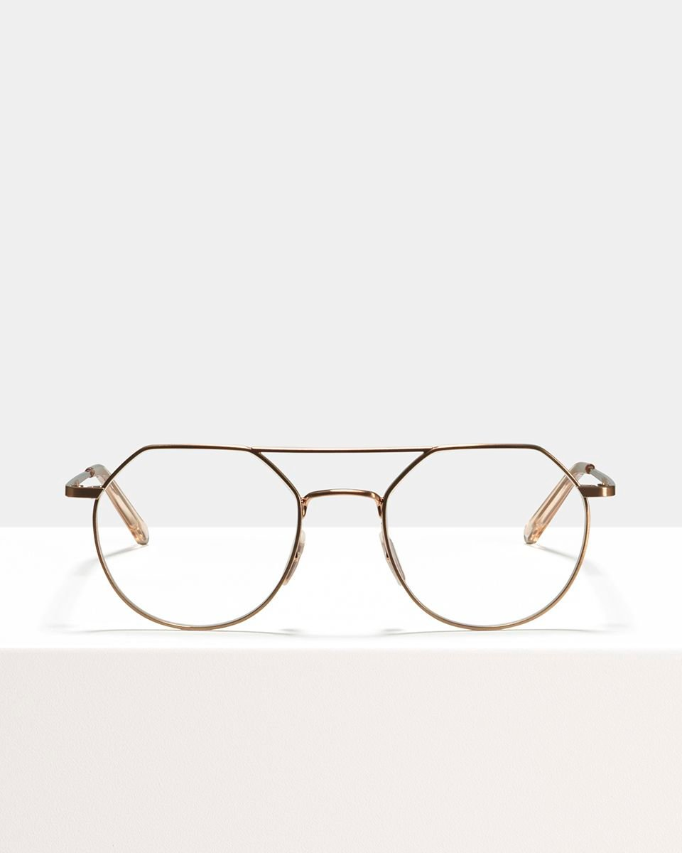 Travis métal glasses in Rose Gold by Ace & Tate