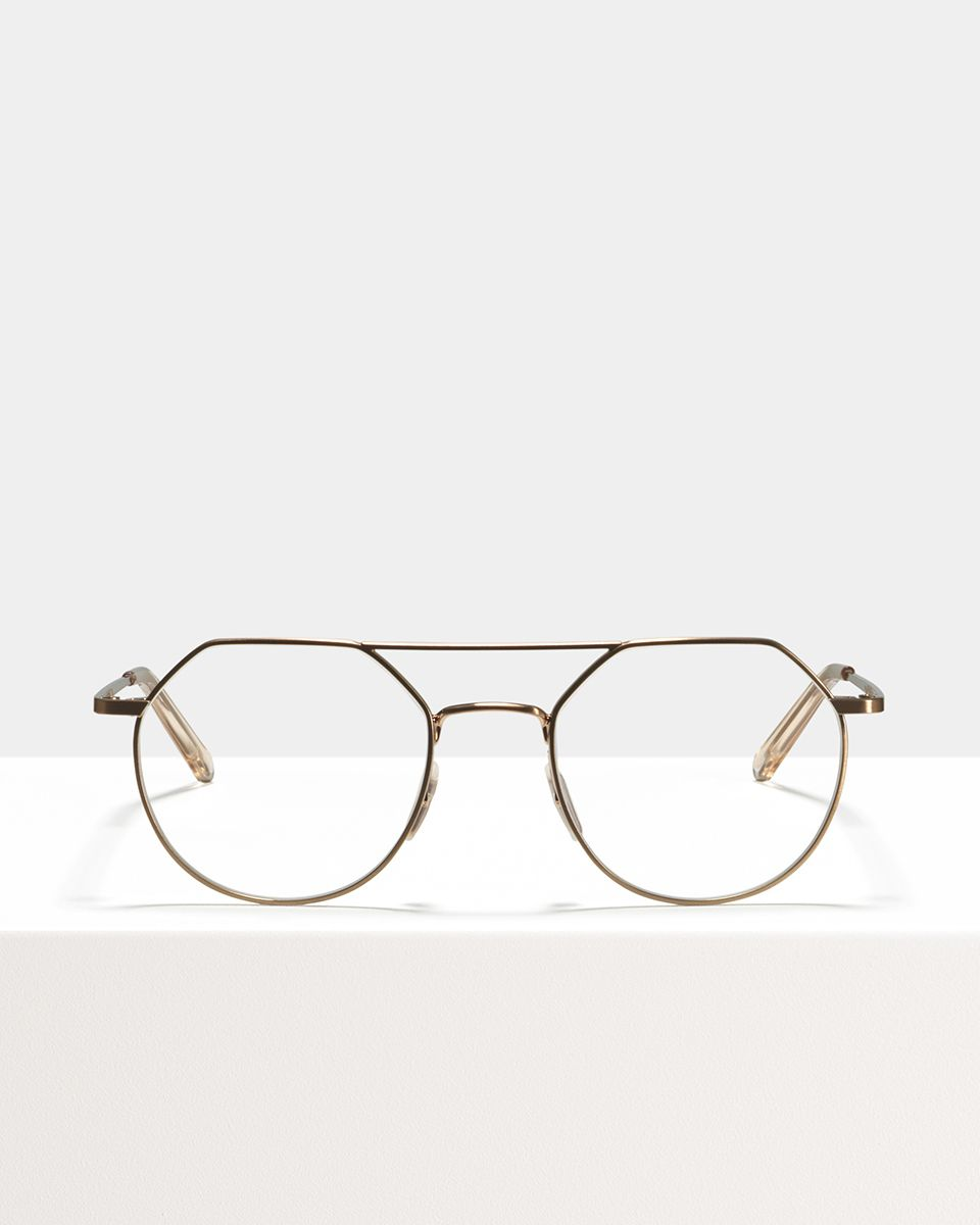 Travis metal glasses in Rose Gold by Ace & Tate