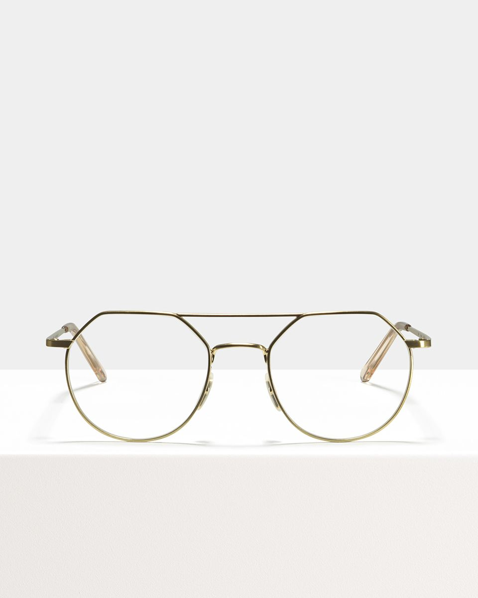 Travis metal glasses in Satin Gold by Ace & Tate