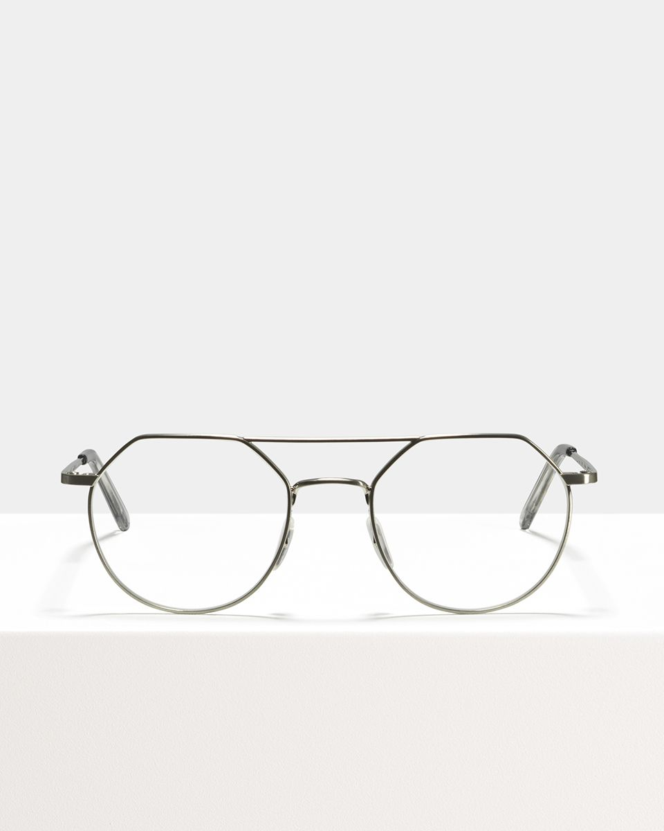 Travis Metall glasses in Satin Silver by Ace & Tate