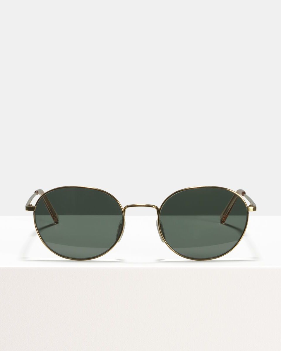John métal glasses in Satin Gold by Ace & Tate