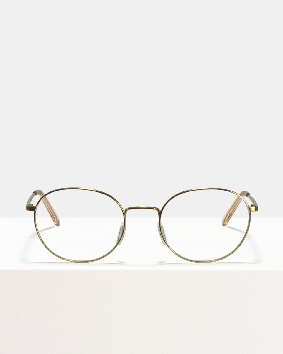 John metal glasses in Satin Gold by Ace & Tate