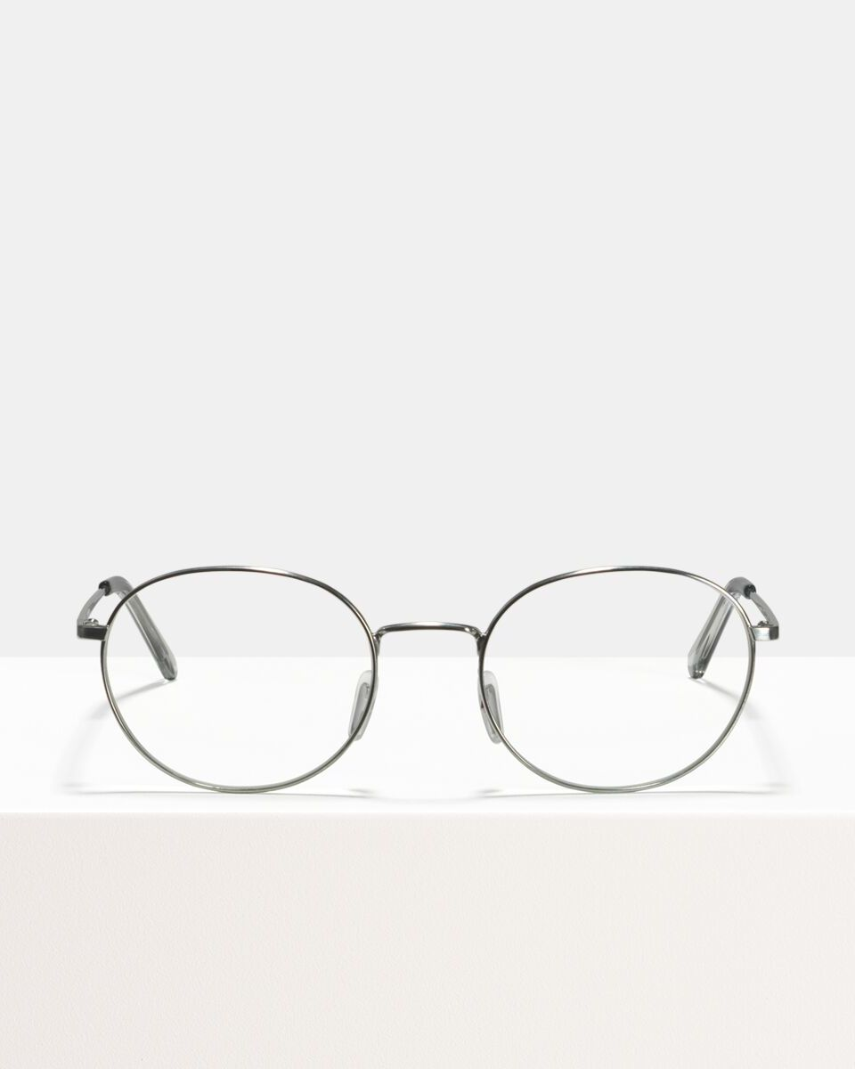 John Metall glasses in Satin Silver by Ace & Tate