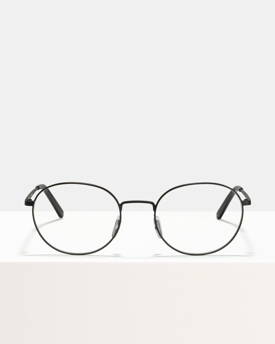 John metal glasses in Matte Black by Ace & Tate