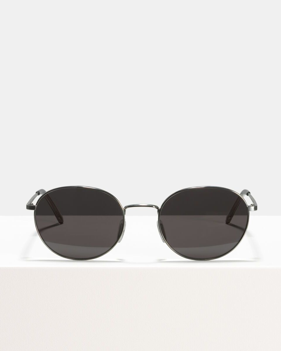 John métal glasses in Satin Silver by Ace & Tate
