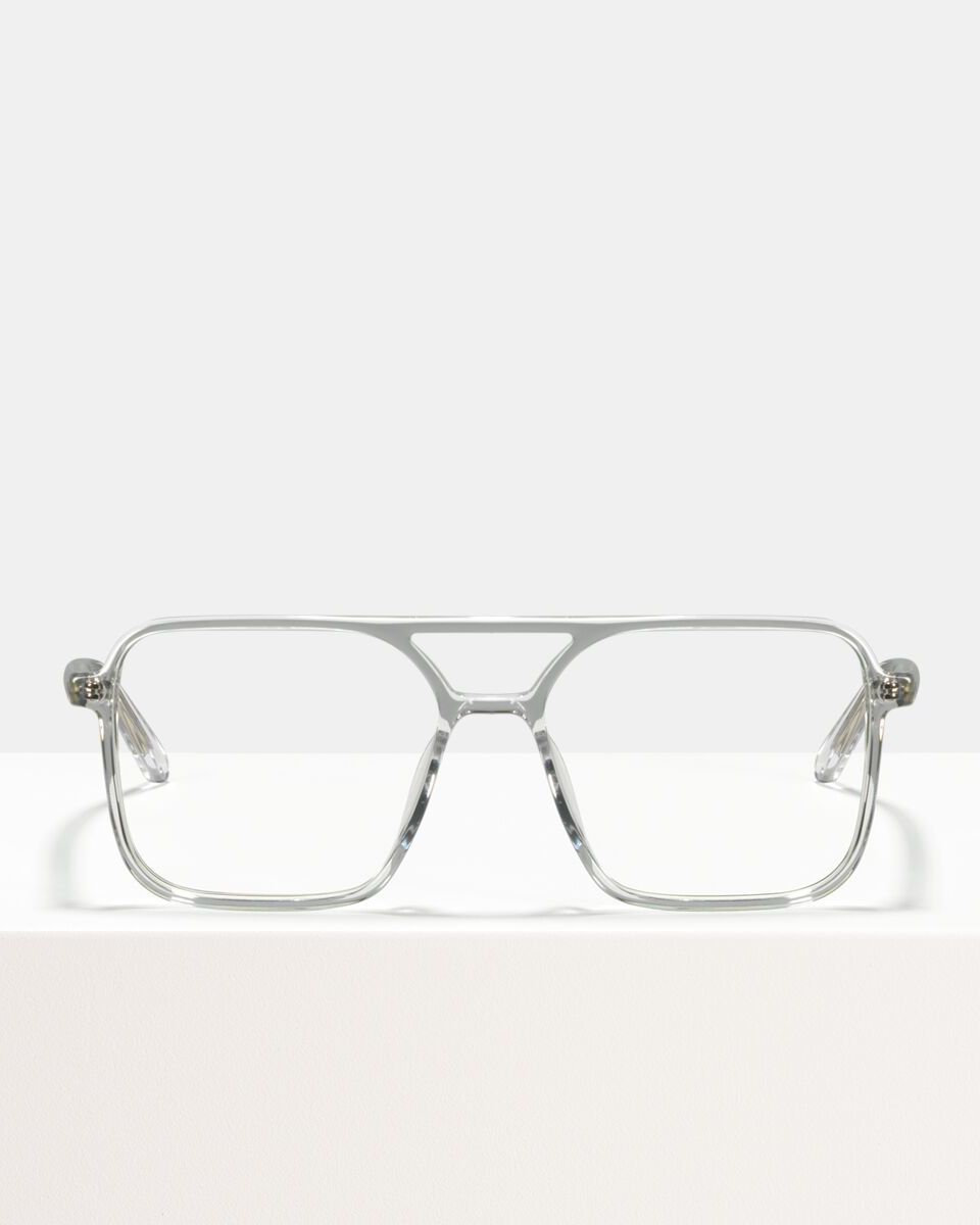 Carter bioacetaat glasses in Crystal by Ace & Tate