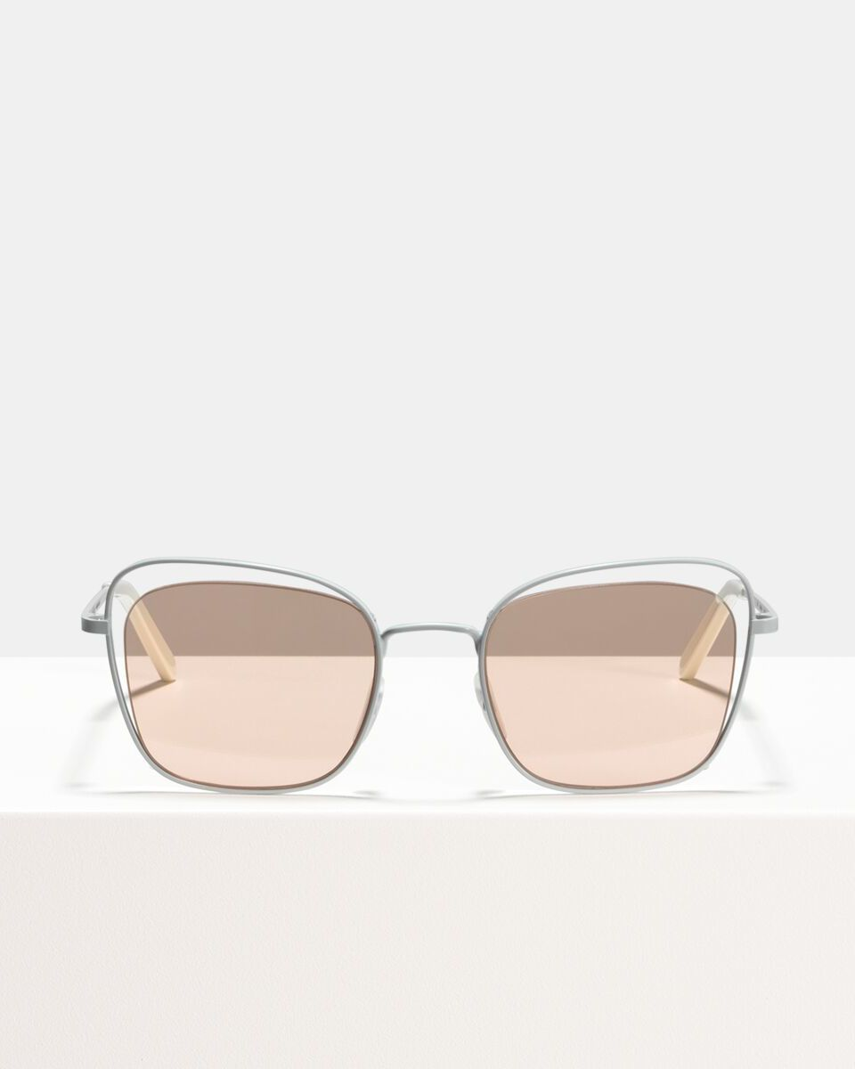 Ace & Tate Sunglasses | square metal in Pink, White