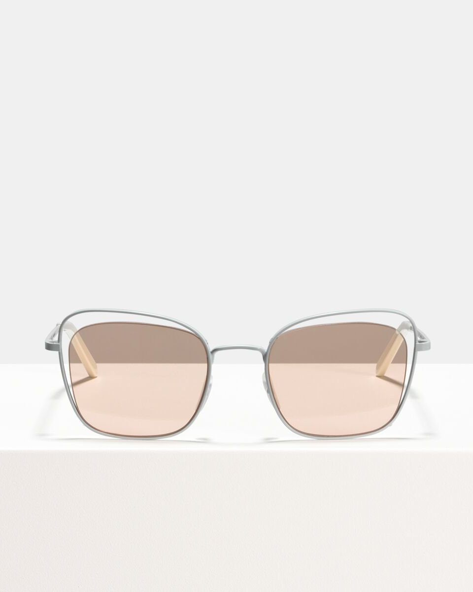 Ruby métal glasses in Matte White Blush by Ace & Tate