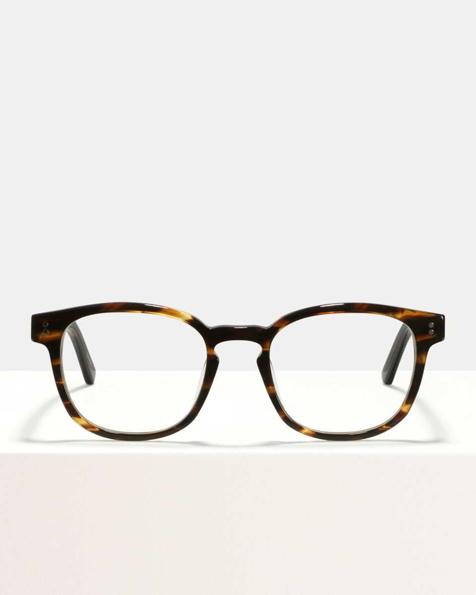 Alfred Large acetaat glasses in Tigerwood by Ace & Tate