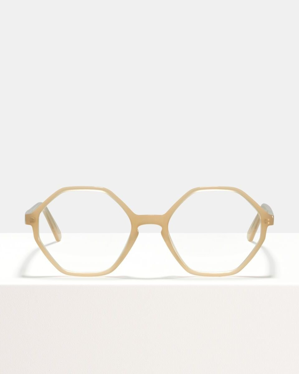 Aretha acetaat glasses in Cashew by Ace & Tate