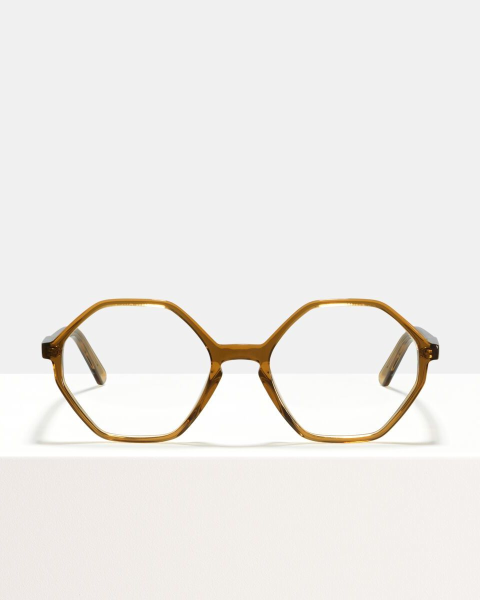 Aretha acetaat glasses in Golden Brown by Ace & Tate
