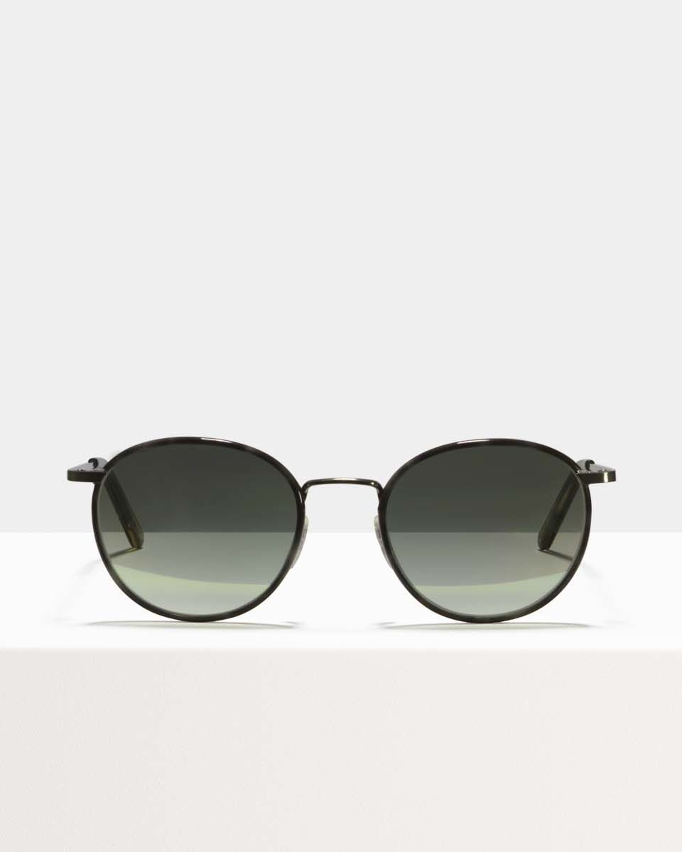 Neil Large metal glasses in Sage Botanical Haze by Ace & Tate
