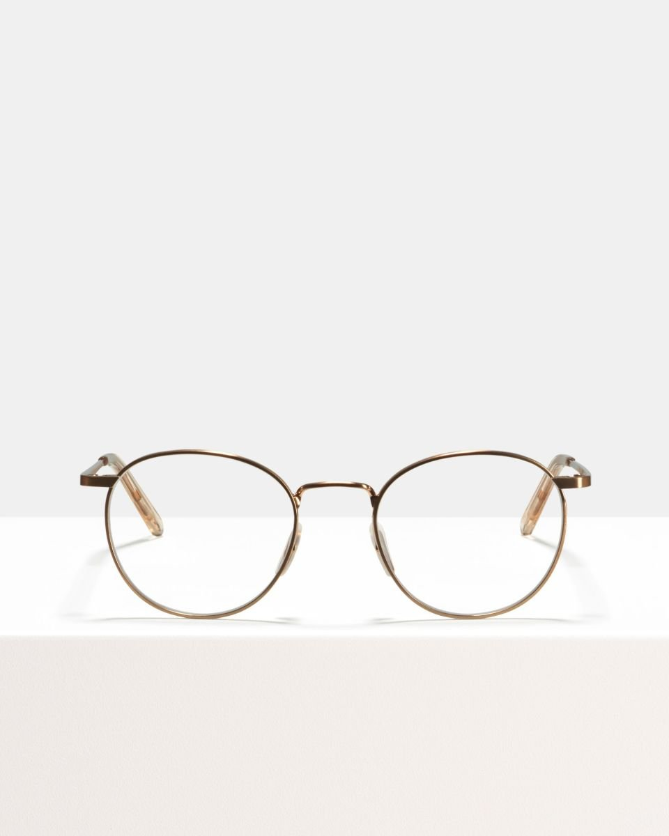 Neil Large metal glasses in Rose Gold by Ace & Tate