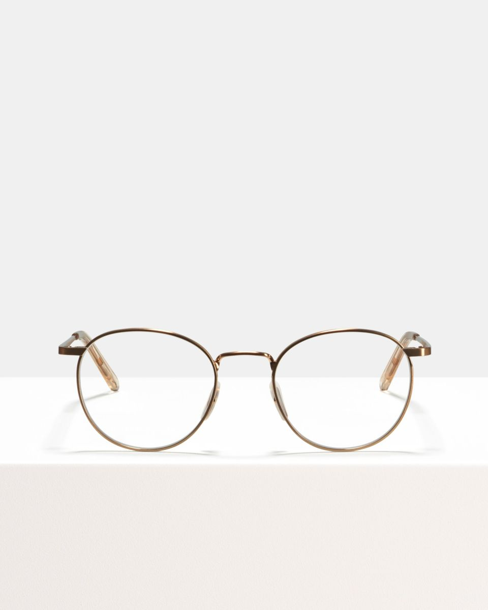 Neil Small métal glasses in Rose Gold by Ace & Tate