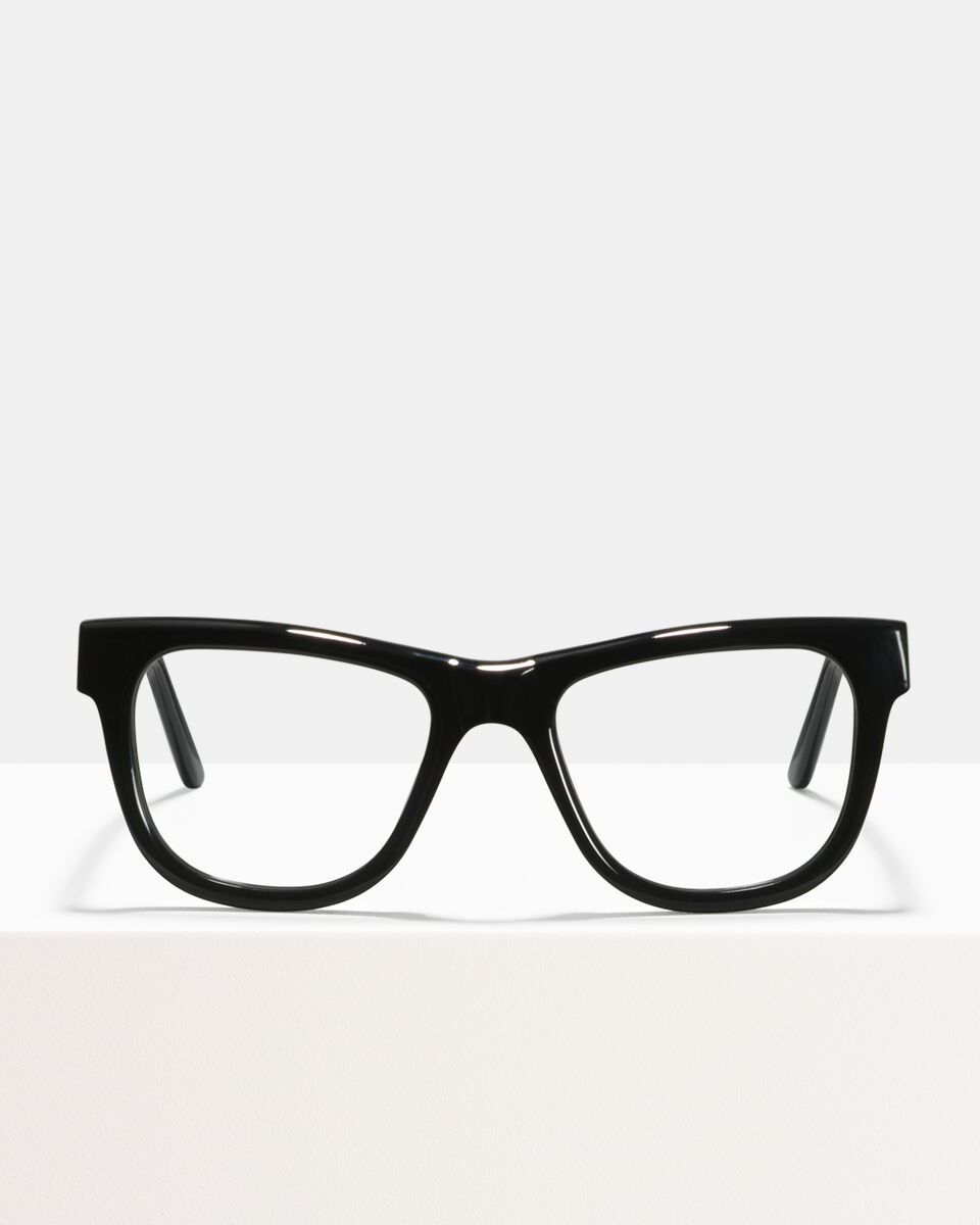 Jack acetaat glasses in Black by Ace & Tate