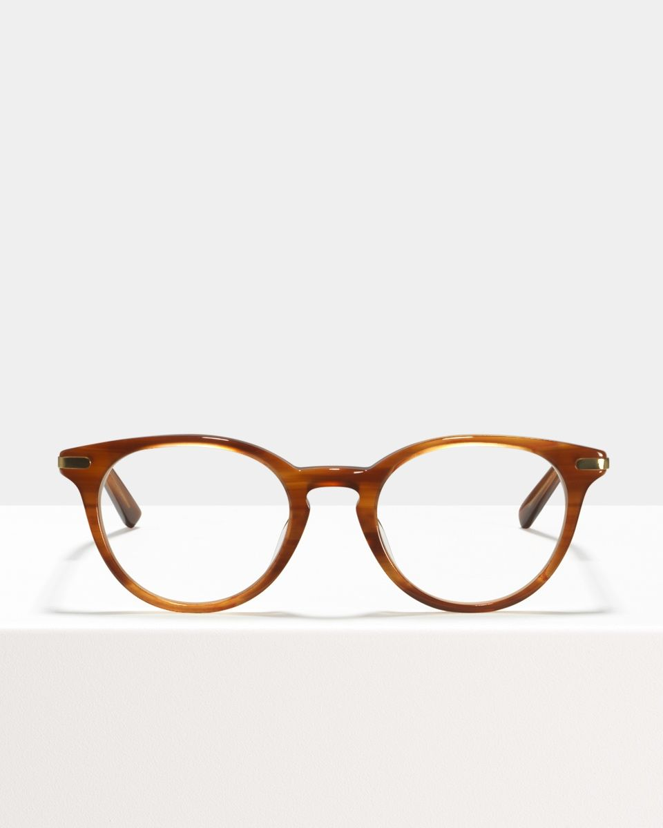 Max Metal Temple acetate glasses in Alderwood by Ace & Tate