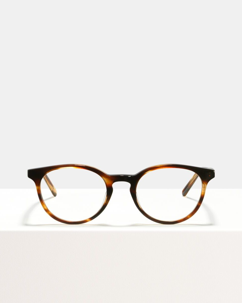 Max acetato glasses in Tigerwood by Ace & Tate