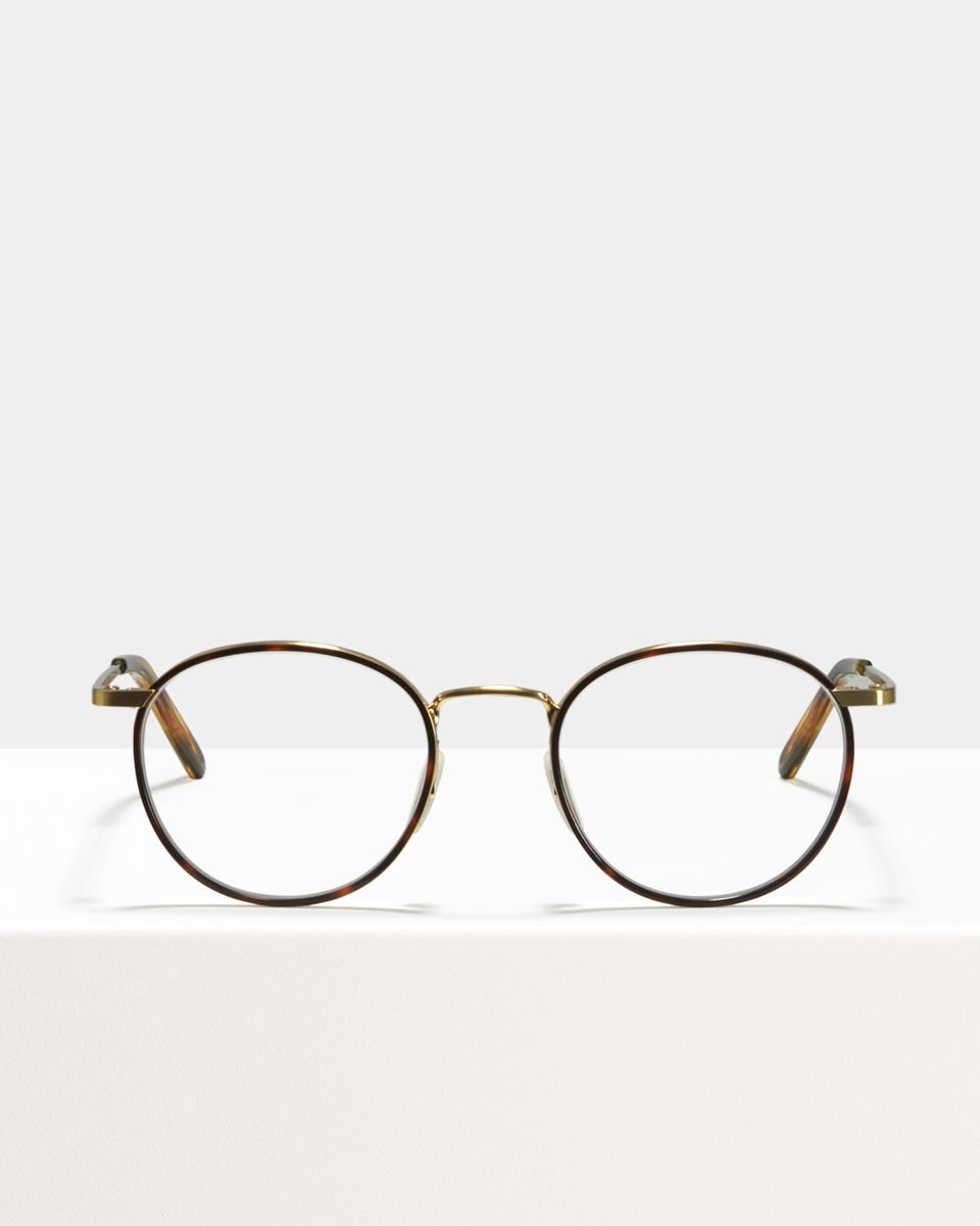 Neil Metall glasses in Windsor Rim Tigerwood by Ace & Tate
