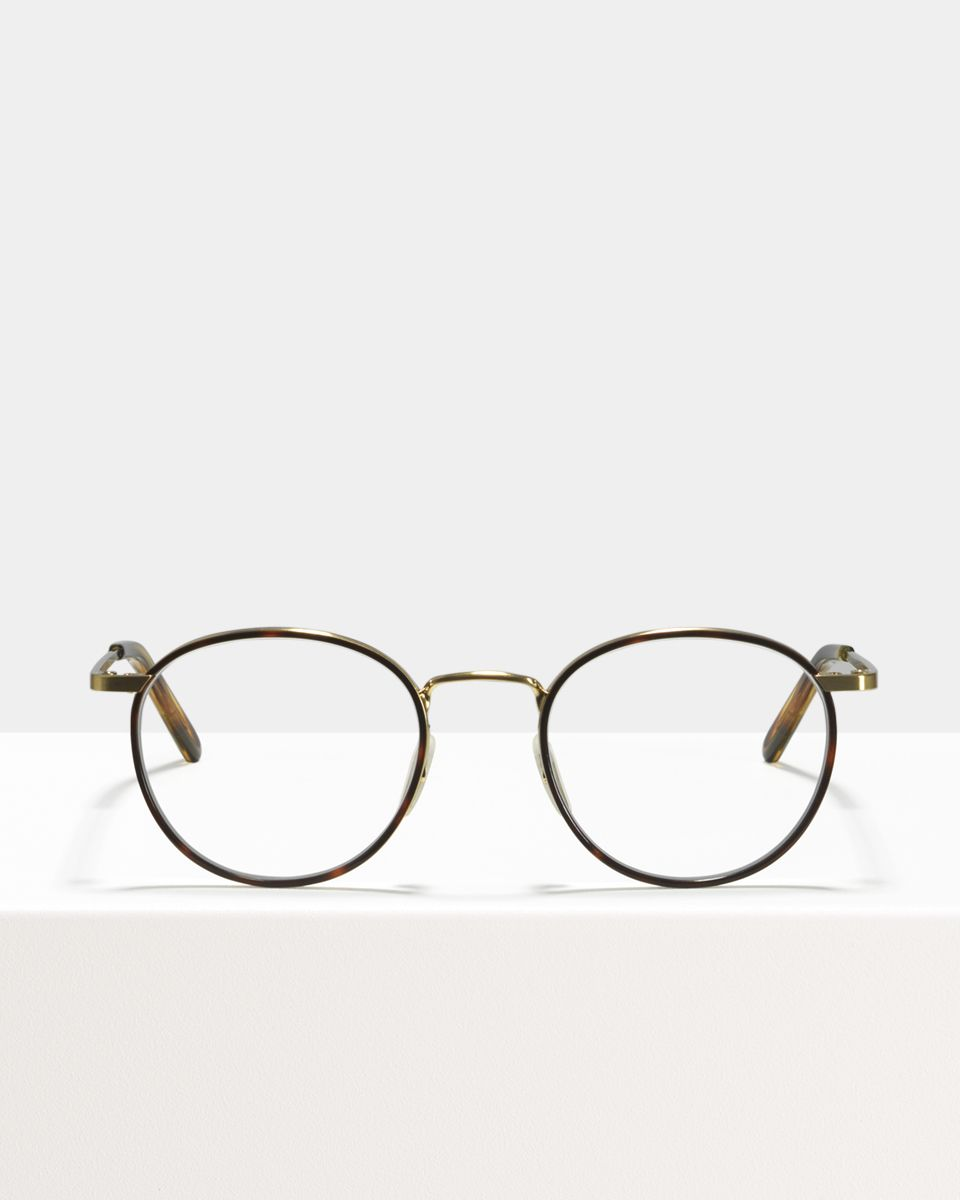 Neil Large metaal glasses in Windsor Rim Tigerwood by Ace & Tate