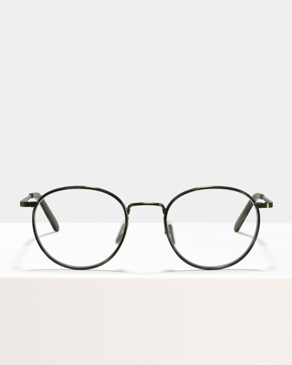 Neil Large métal glasses in Windsor Rim Botanical Haze by Ace & Tate
