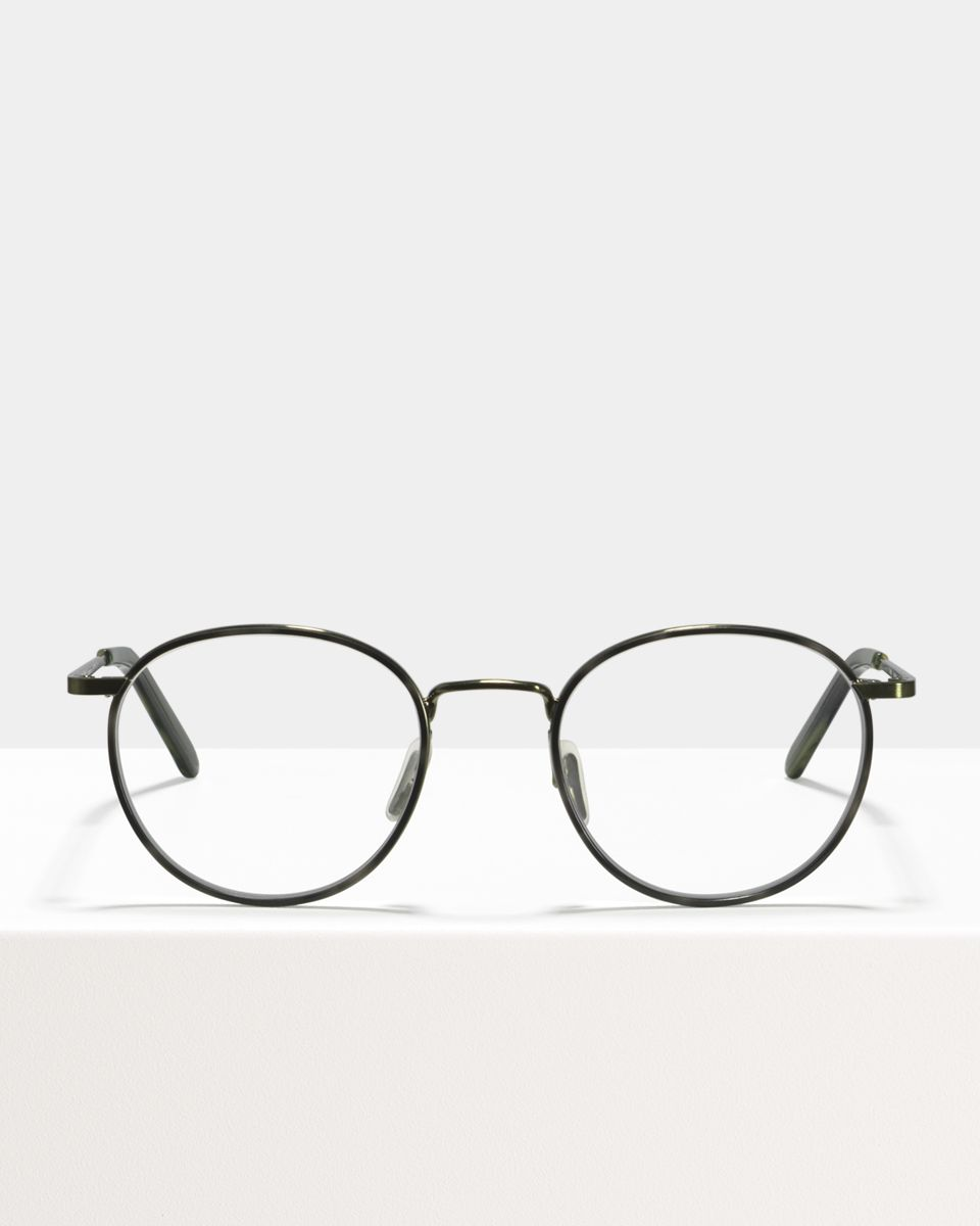 Neil Large metal glasses in Windsor Rim Botanical Haze by Ace & Tate