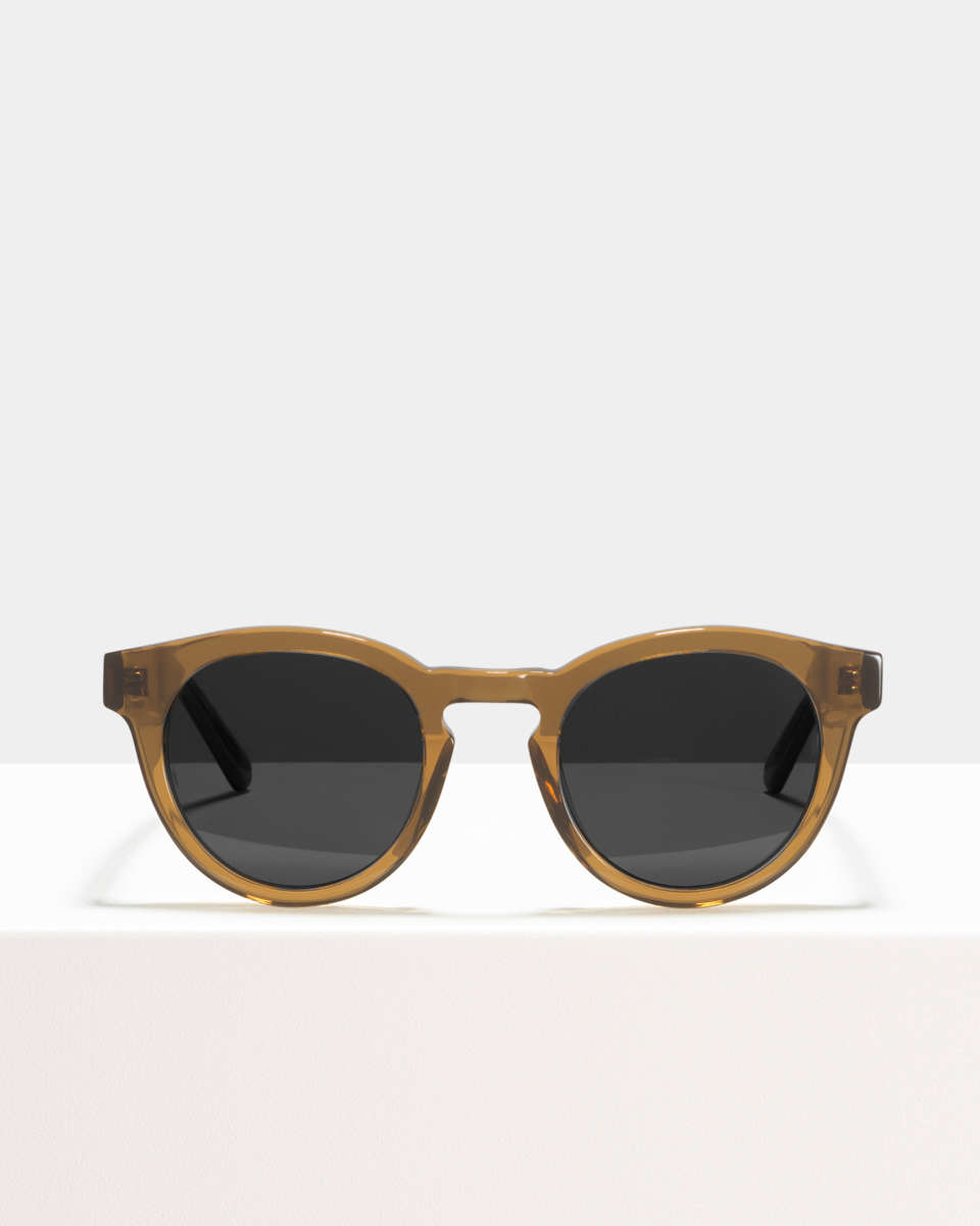 Byron acetato glasses in Golden Brown by Ace & Tate