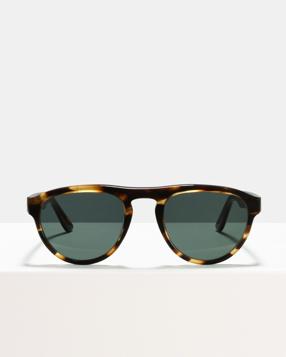 Freddie acetate glasses in Tigerwood by Ace & Tate