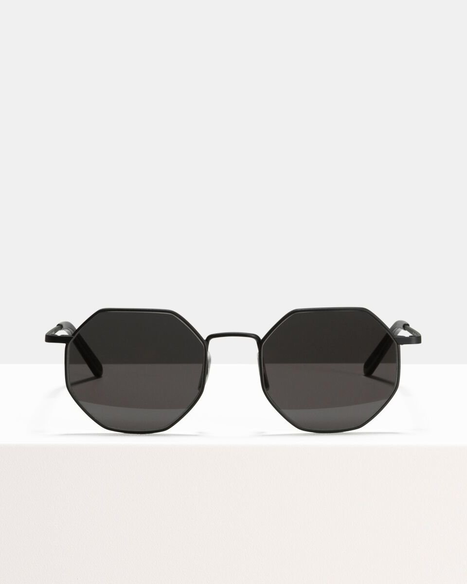 Elton Large acetato glasses in Matte Black by Ace & Tate