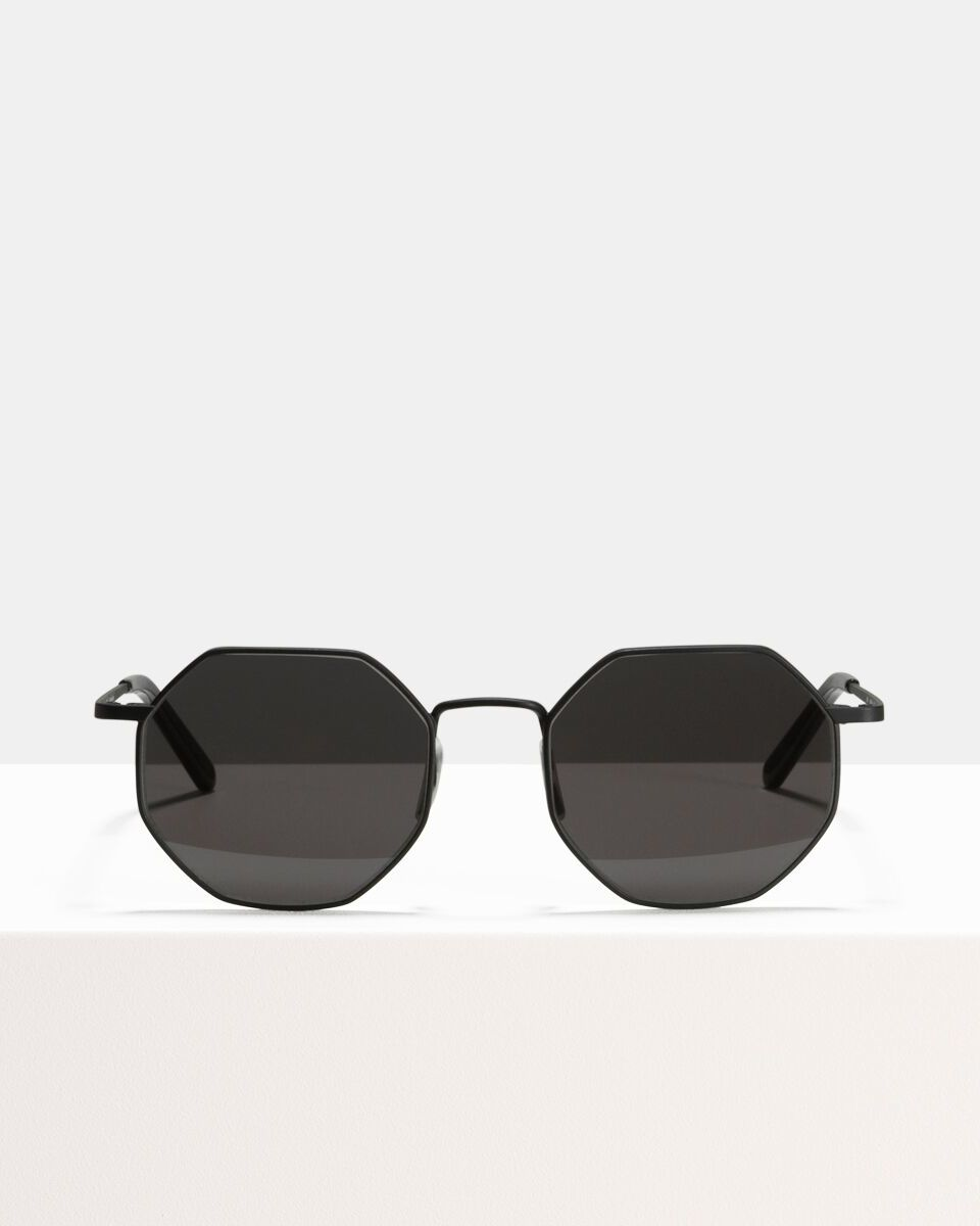 Elton Large acetate glasses in Matte Black by Ace & Tate