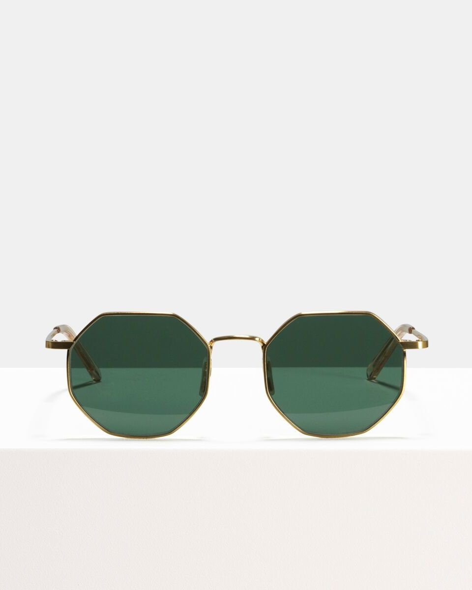 Elton Large métal glasses in Satin Gold by Ace & Tate