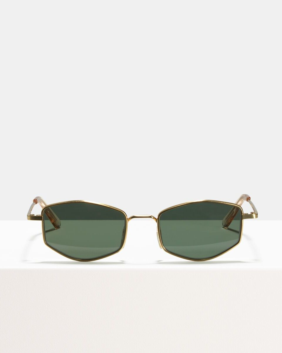 Ben metal glasses in Satin Gold by Ace & Tate