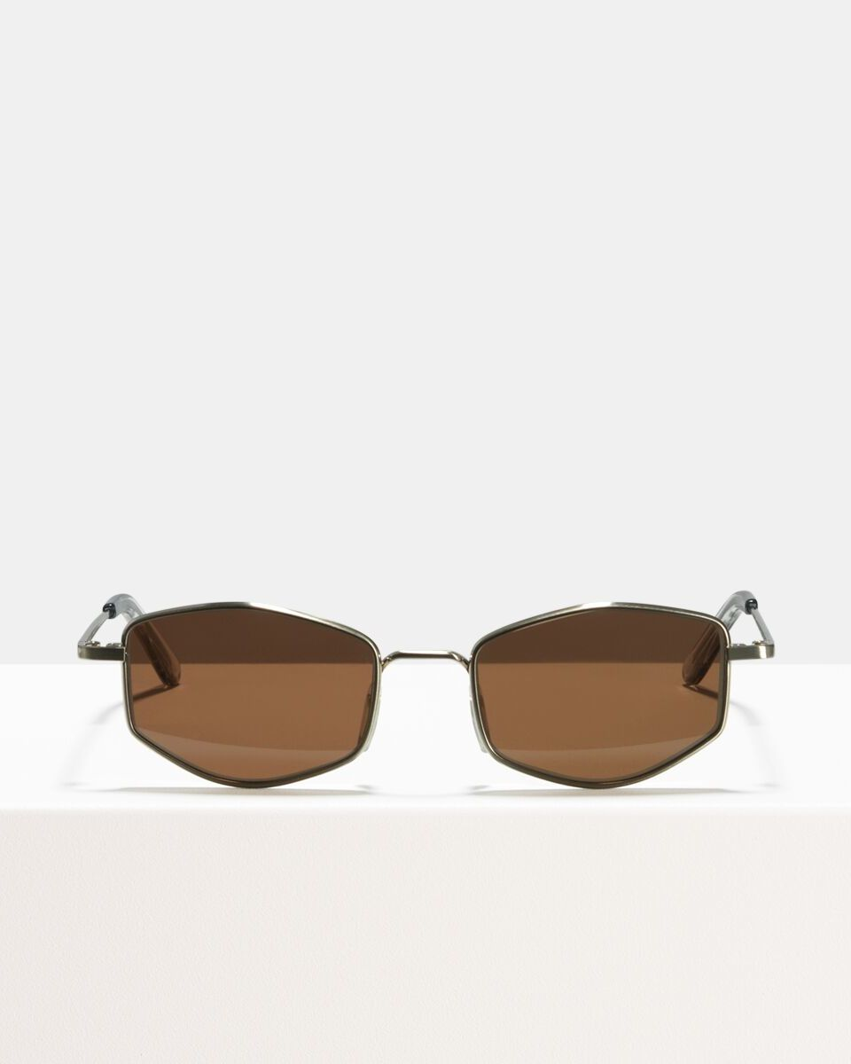 Ben acetate glasses in Satin Silver by Ace & Tate
