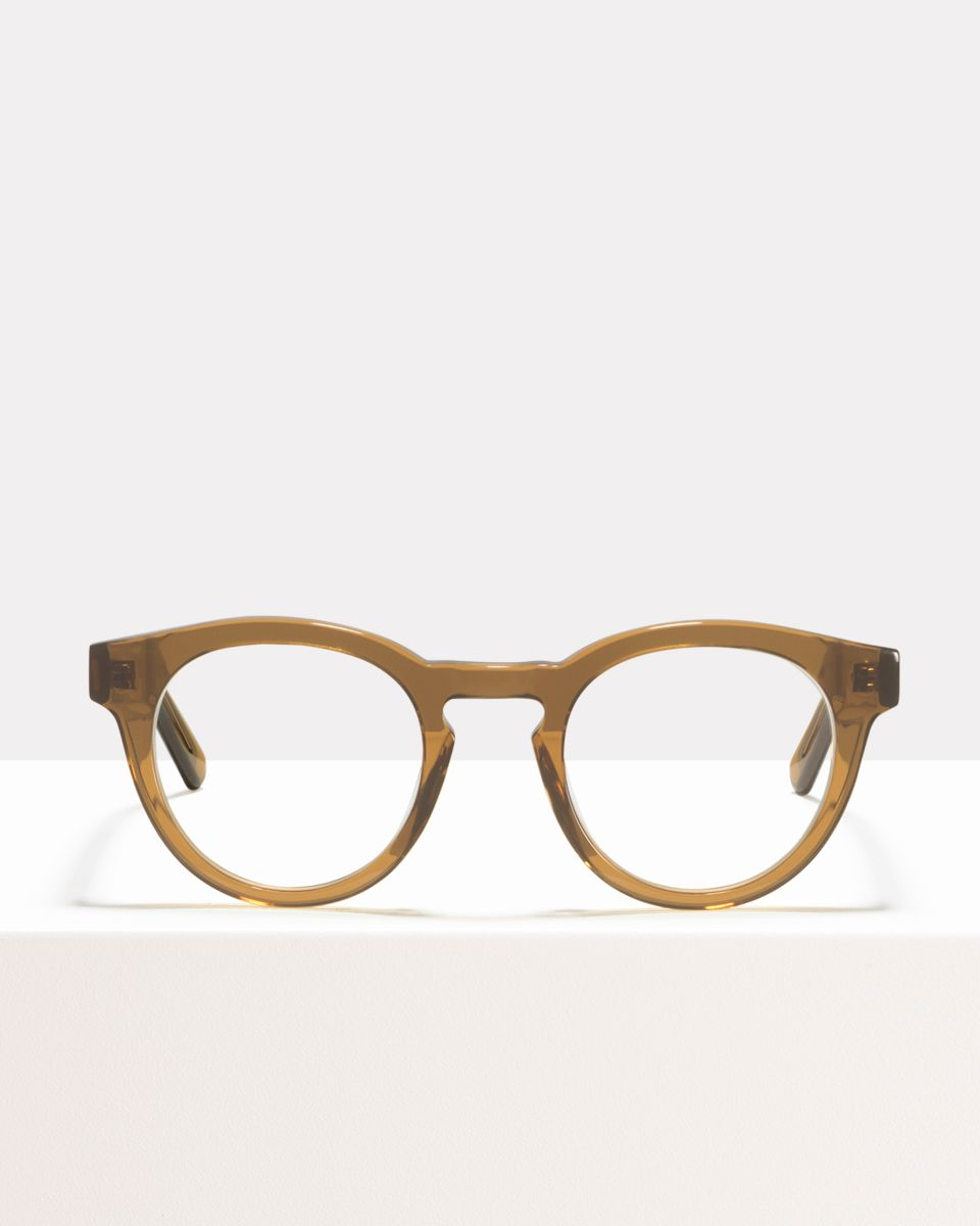 Byron Large acetate glasses in Golden Brown by Ace & Tate